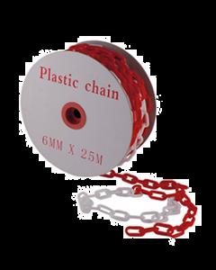 CATENA IN PVC BIANCO/ROSSO DIAM. 8 MM ML. 25