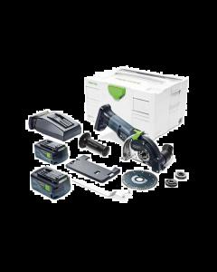 Sistema di taglio a mano libera a batteria DSC-AGC 18-125 FH Li 5,2 EBI-Plus